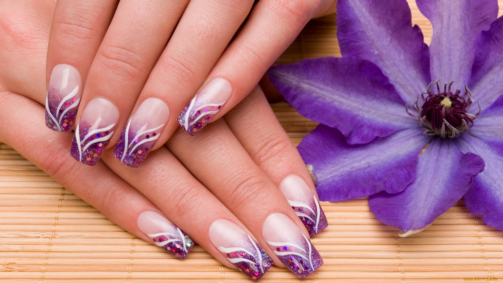 Узоры для ногтей с цветами фото
